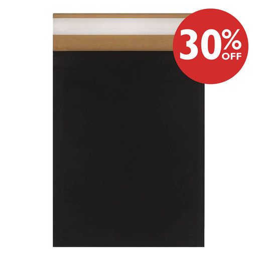 C4 Eco Friendly Recyclable Black Padded Envelope 324mm x 229mm [Qty 50]
