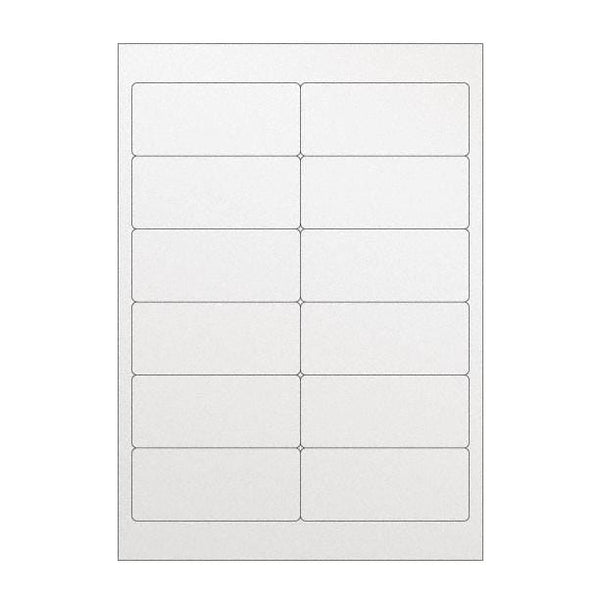 A4 Clear Address Labels - 12 Per Sheet [20 Sheets]