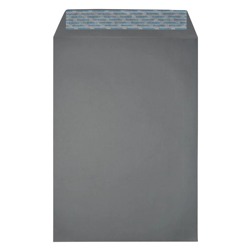 C4 Dark Grey 120gsm Pocket Peel & Seal Envelopes [Qty 200] (2131291340889)