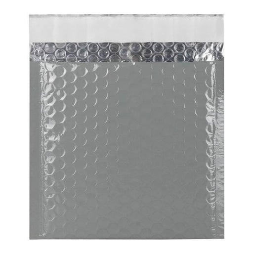 165 x 165 Grey Gloss Padded Bubble Envelopes [Qty 100]