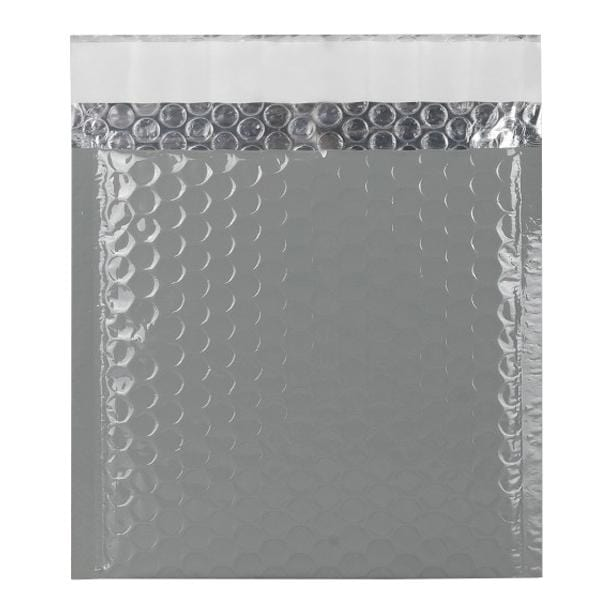 165 x 165 Grey Gloss Padded Bubble Envelopes [Qty 100] (2131348717657)