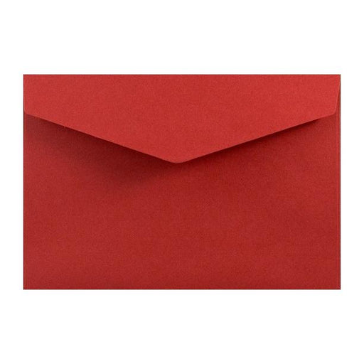 Deep Red Business Card Envelopes 120gsm Peel & Seal [Qty 250] 62 x 94mm