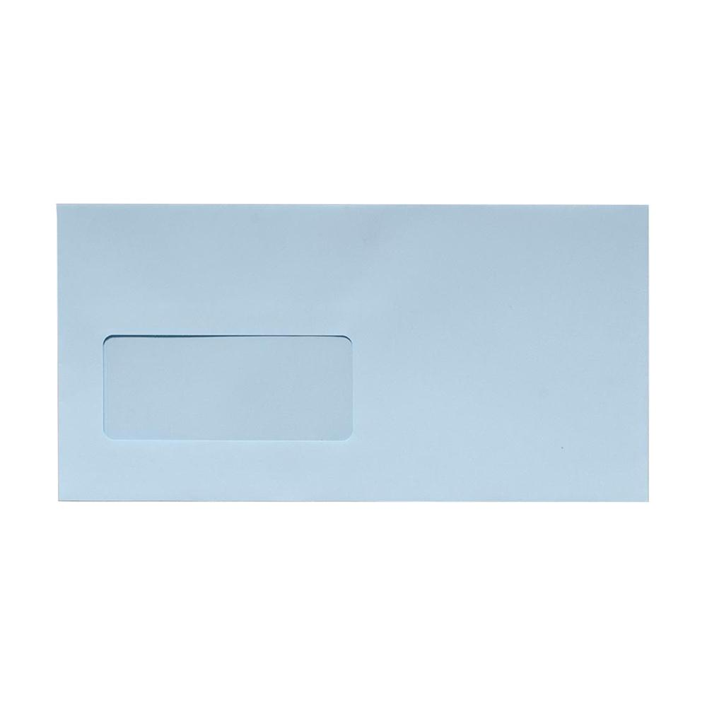 DL Baby Blue Window Envelopes [Qty 500] 100gsm Peel & Seal 110 x 220mm (2131040075865)
