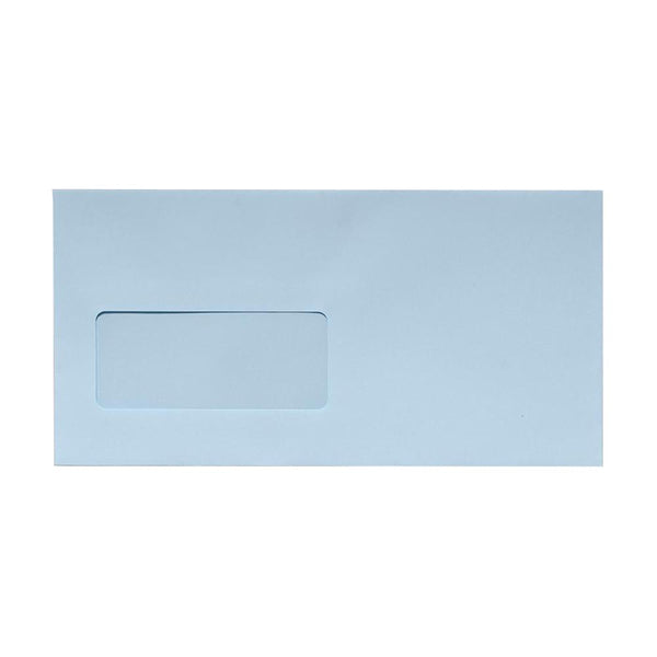 DL Baby Blue Window Envelopes [Qty 500] 100gsm Peel & Seal 110 x 220mm