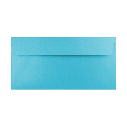 DL Pearlescent Baby Blue 120gsm Peel & Seal Envelopes [Qty 250] 110 x 220mm