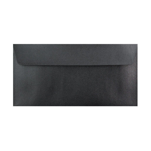 DL Pearlescent Slate Black 120gsm Peel & Seal Envelopes [Qty 250] 110 x 220mm