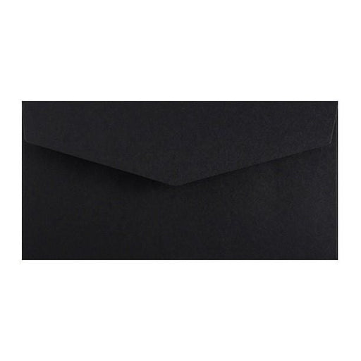 DL Black V Flap Peel & Seal Envelopes [Qty 250] 110 x 220mm (2131377487961)