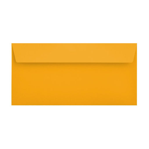 DL Bright Gold 120gsm Peel & Seal Envelopes [Qty 500] 114 x 229mm