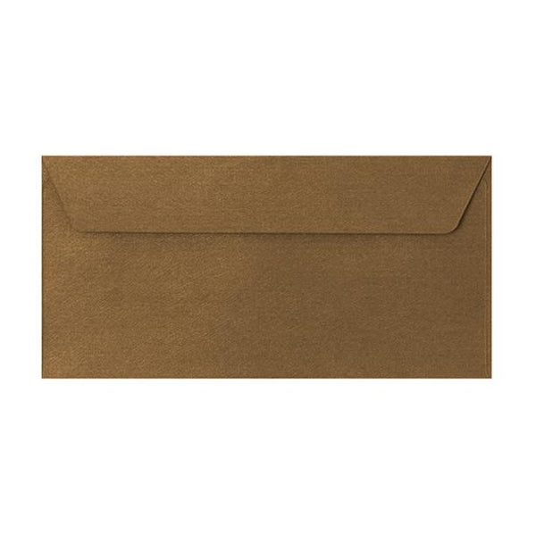 DL Bronze Textured 120gsm Peel & Seal Envelopes [Qty 250] 110 x 220mm (2131081166937)