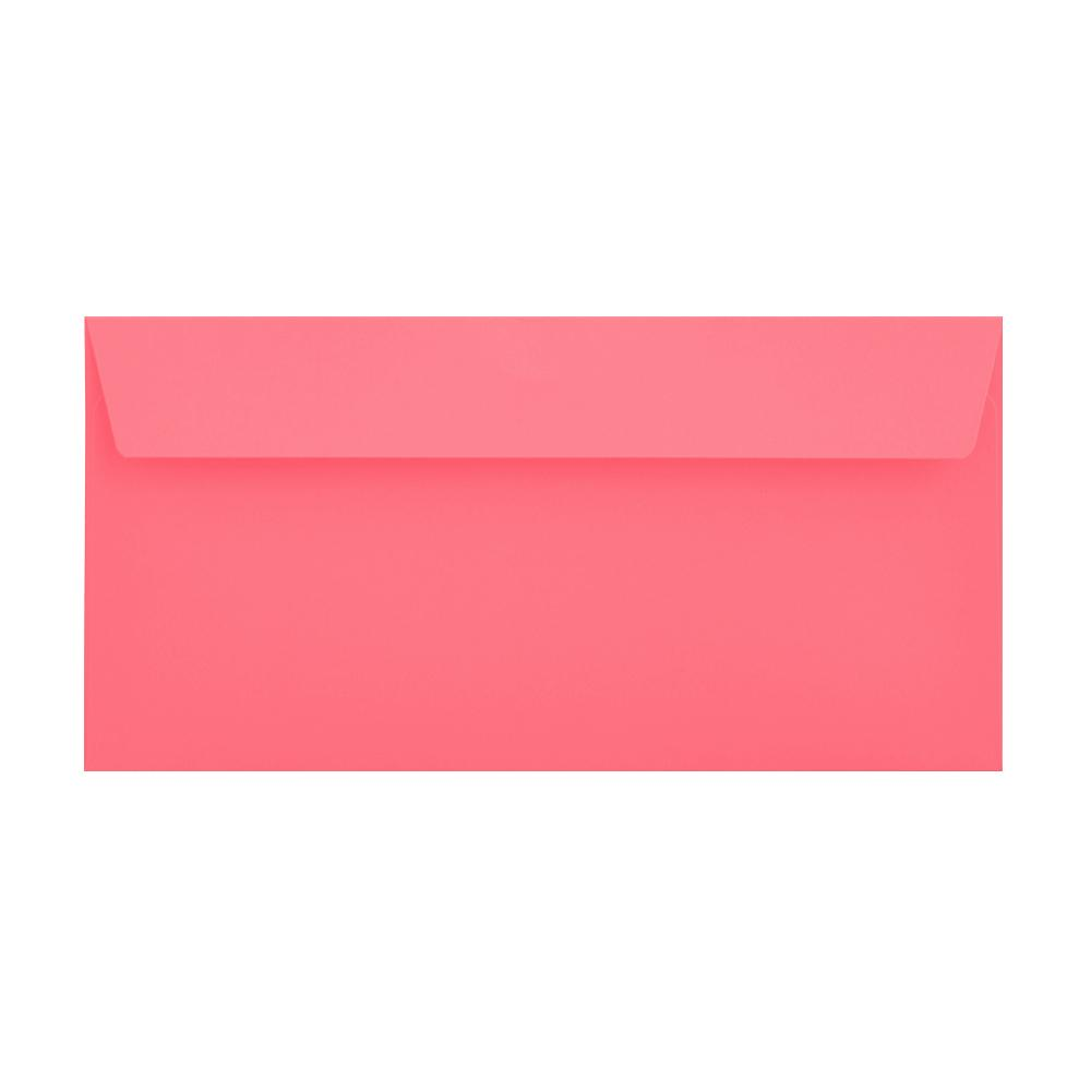 DL Cerise Pink 120gsm Peel & Seal Envelopes [Qty 500] 114 x 229mm (2131092996185)