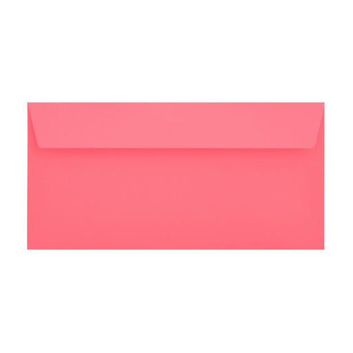 DL Cerise Pink 120gsm Peel & Seal Envelopes [Qty 500] 114 x 229mm