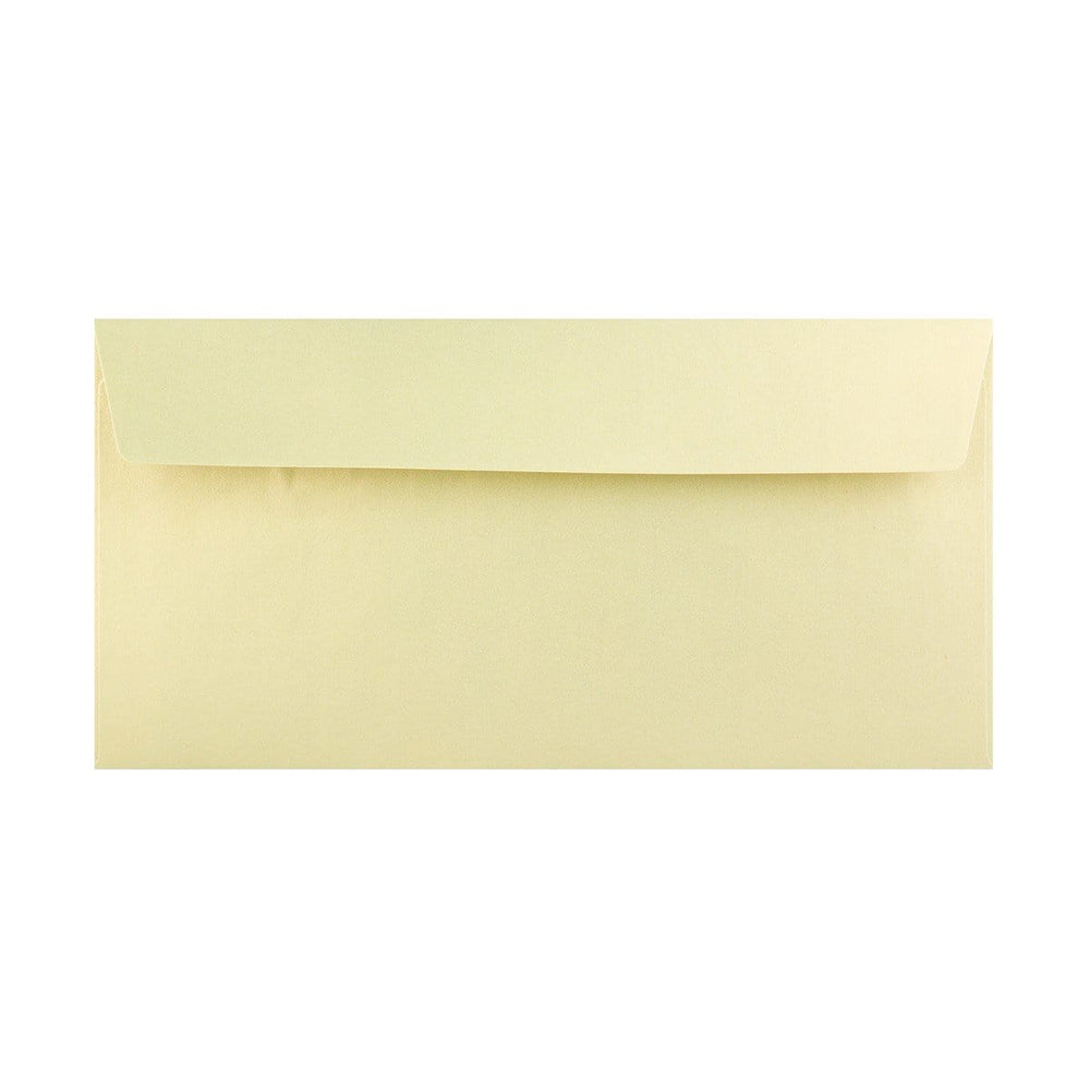 DL Pearlescent Champagne 120gsm Peel & Seal Envelopes [Qty 250] 110 x 220mm (2131256836185)
