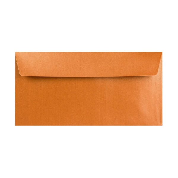 DL Pearlescent Copper 120gsm Peel & Seal Envelopes [Qty 250] 110 x 220mm (2131257032793)