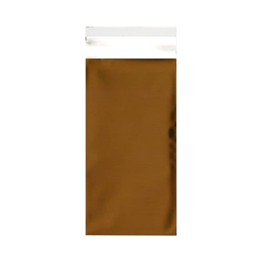 DL Matt Gold Metallic Foil Postal Envelopes / Bags [Qty 250] 220 x 110mm