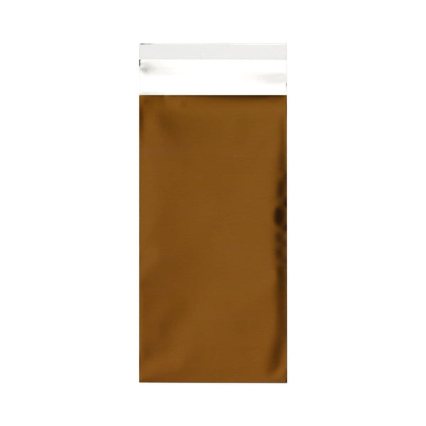 DL Matt Gold Metallic Foil Postal Envelopes / Bags [Qty 250] 220 x 110mm (2131310542937)
