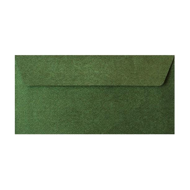 DL Forest Green Textured 120gsm Peel & Seal Envelopes [Qty 250] 110 x 220mm