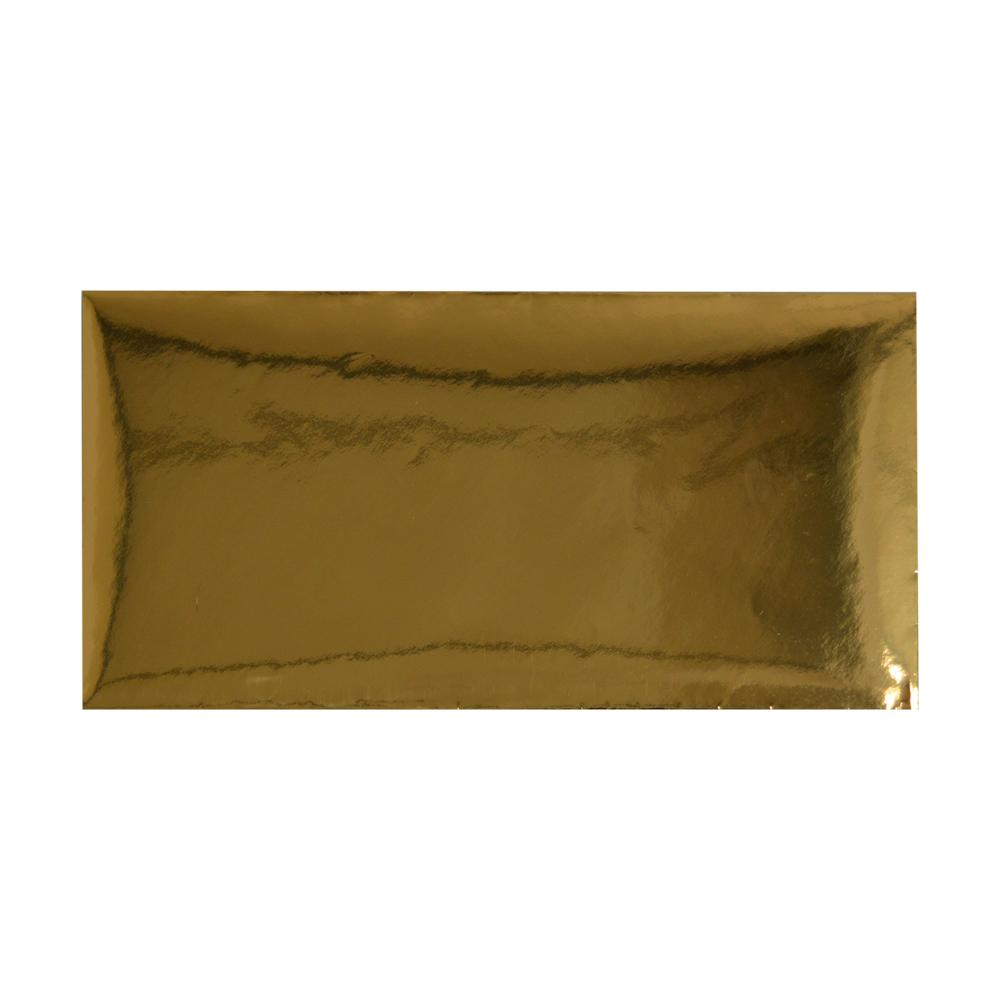 DL Metallic Gold Mirror Finish 120gsm Gummed Envelopes [Qty 50] 110 x 220mm (2131248382041)