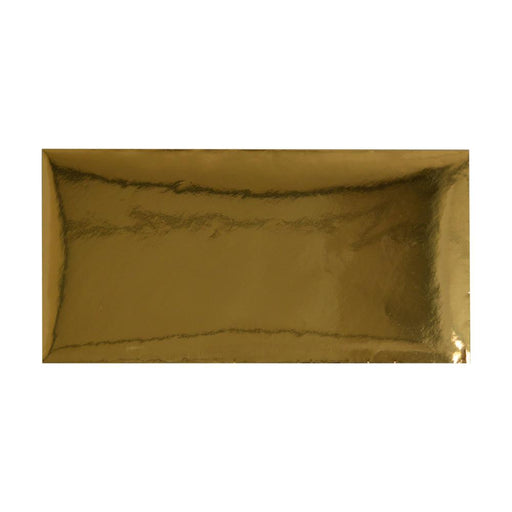 DL Metallic Gold Mirror Finish 120gsm Gummed Envelopes [Qty 50] 110 x 220mm