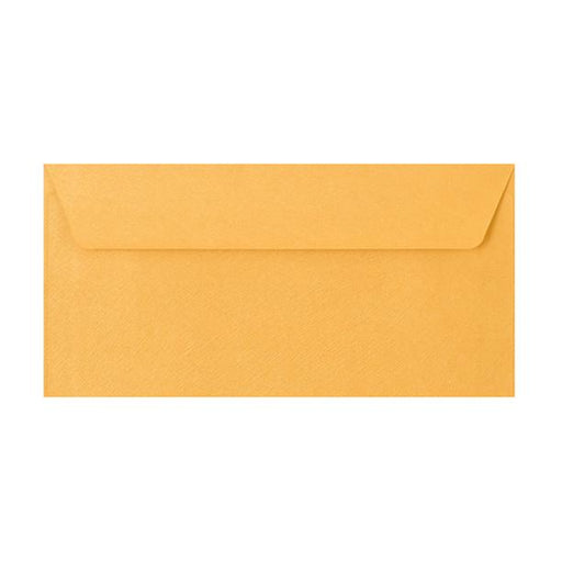 DL Gold Textured 120gsm Peel & Seal Envelopes [Qty 250] 110 x 220mm