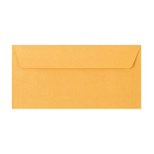 DL Gold Textured 120gsm Peel & Seal Envelopes [Qty 250] 110 x 220mm (2131081494617)