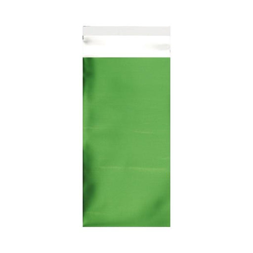 DL Matt Green Metallic Foil Bags [Qty 250] 220 x 110mm