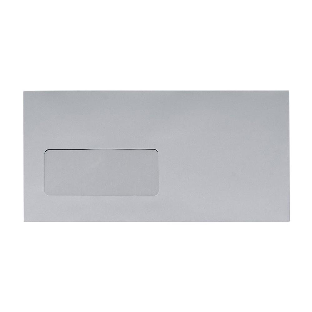 DL Grey Window 120gsm Peel & Seal Envelopes [Qty 500] 110 x 220mm (2131041157209)