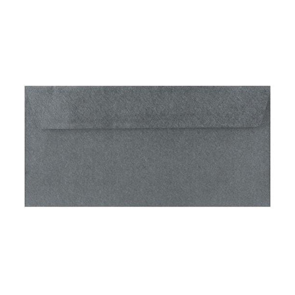 DL Grey Textured 120gsm Peel & Seal Envelopes [Qty 250] 110 x 220mm