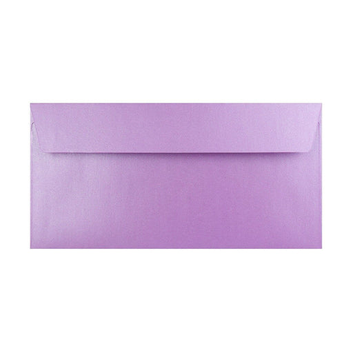 DL Pearlescent Lavender 120gsm Peel & Seal Envelopes [Qty 250] 110 x 220mm