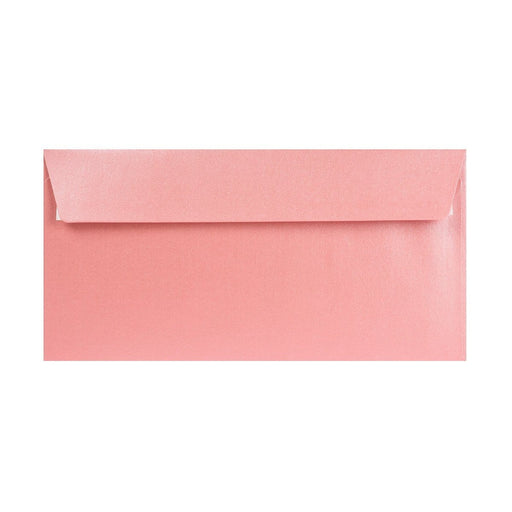 DL Pearlescent Baby Pink 120gsm Peel & Seal Envelopes [Qty 250] 110 x 220mm