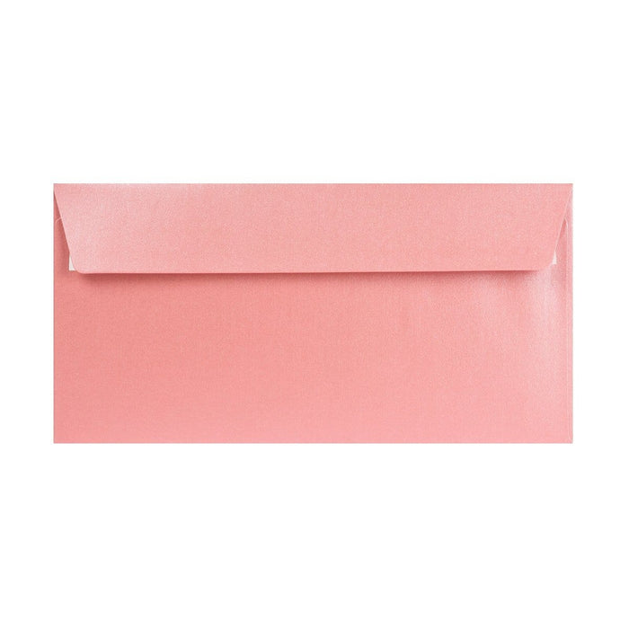 DL Pearlescent Baby Pink 120gsm Peel & Seal Envelopes [Qty 250] 110 x 220mm (2131256508505)