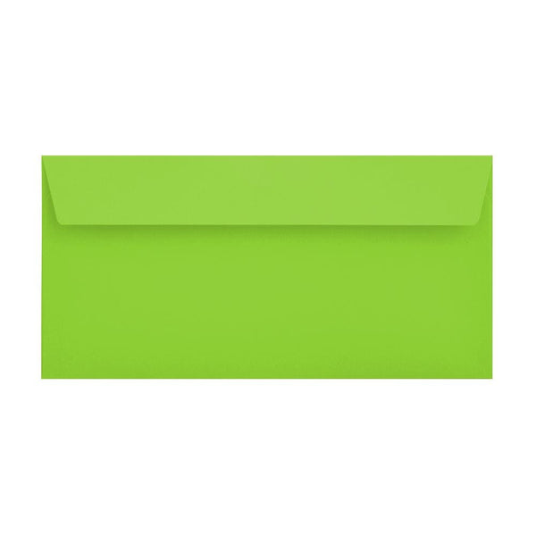DL Lime Green 120gsm Peel & Seal Envelopes [Qty 500] 114 x 229mm (2131094175833)