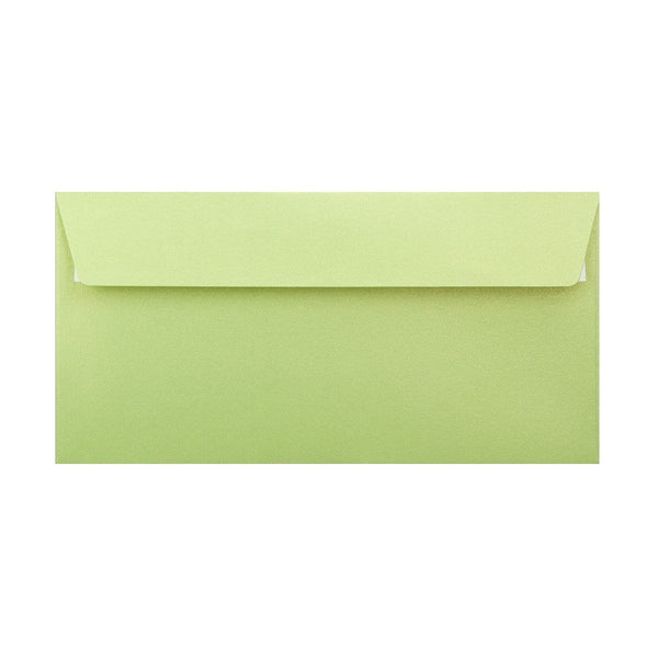DL Pearlescent Lime Green 120gsm Peel & Seal Envelopes [Qty 250] 110 x 220mm (2131257589849)