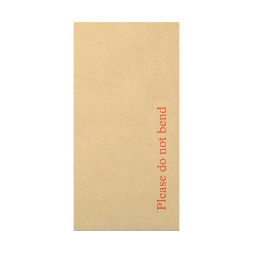 DL Board Back Envelopes - Please Do Not Bend [Qty 125] 110 x 220mm