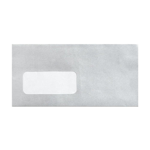 DL Metallic Silver Window 100gsm Peel & Seal Envelopes [Qty 500] 110 x 220mm (2131041681497)