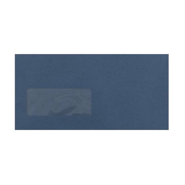 DL Navy Blue Window Envelopes [Qty 500] 120gsm Peel & Seal 110 x 220mm