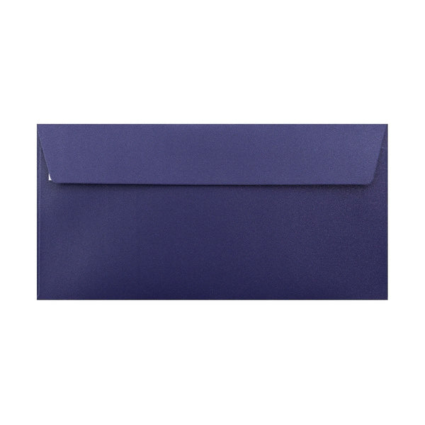 DL Pearlescent Midnight Blue 120gsm Peel & Seal Envelopes [Qty 250] 110 x 220mm (2131257163865)