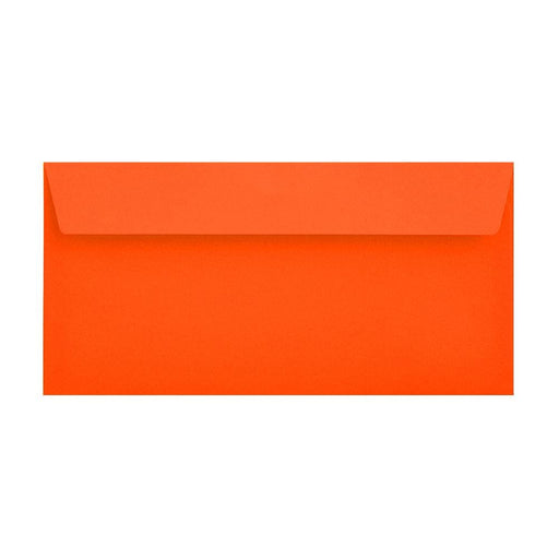 DL Sunset Orange 120gsm Peel & Seal Envelopes [Qty 500] 114 x 229mm