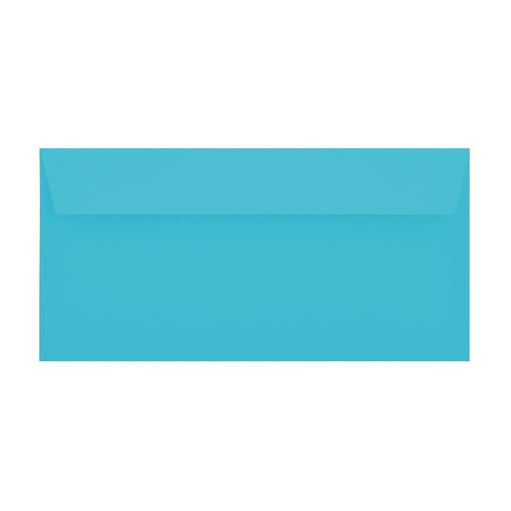 DL Pacific Blue 120gsm Peel & Seal Envelopes [Qty 500] 114 x 229mm