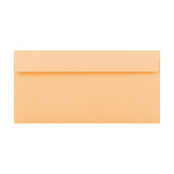 DL Peach 120gsm Peel & Seal Envelopes [Qty 500] 110mm x 220mm (2131414548569)