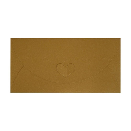 DL Pure Gold Butterfly Envelopes [Qty 50] 110 x 220mm