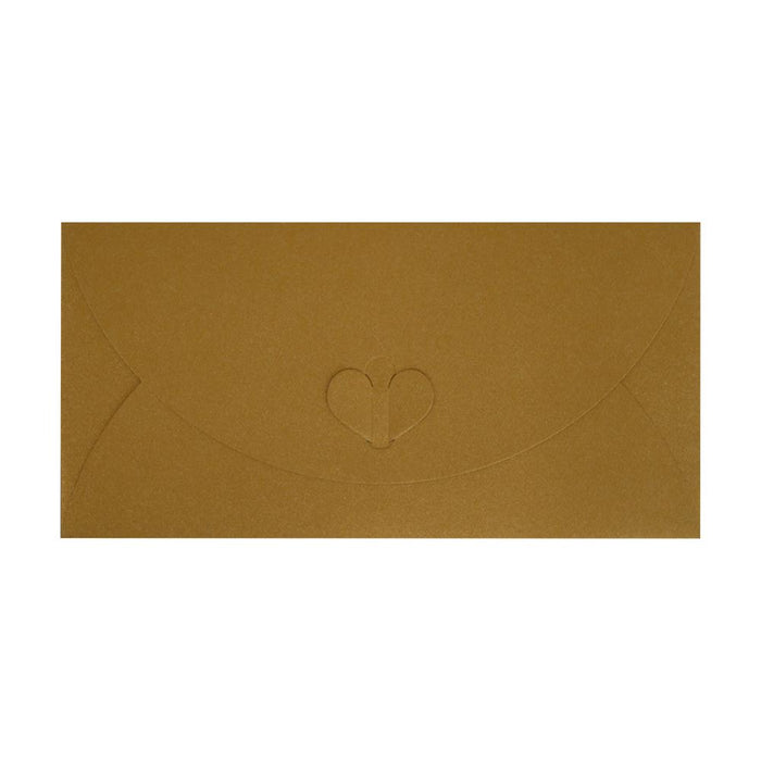 DL Pure Gold Butterfly Envelopes [Qty 50] 110 x 220mm (2131342721113)