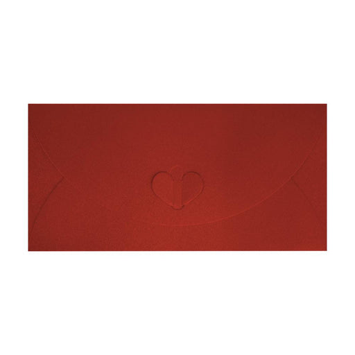 DL Red Butterfly Envelopes [Qty 50] 110 x 220mm