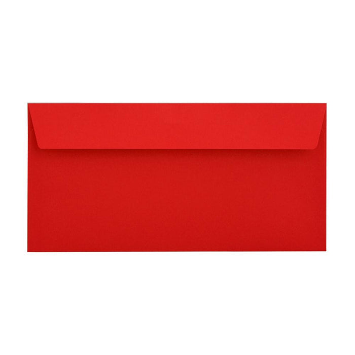 DL Pillar Box Red 120gsm Peel & Seal Envelopes [Qty 500] 110 x 220mm (2131094044761)