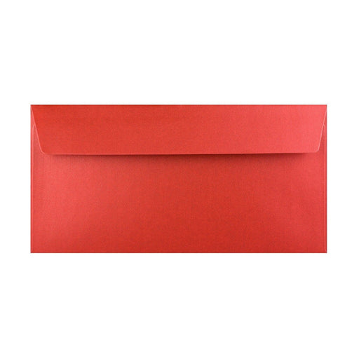 DL Pearlescent Red 120gsm Peel & Seal Envelopes [Qty 250] 110 x 220mm