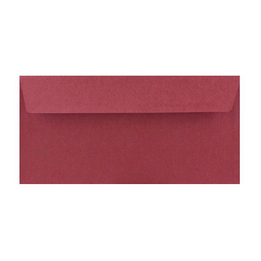 DL Red Textured 120gsm Peel & Seal Envelopes [Qty 250] 110 x 220mm