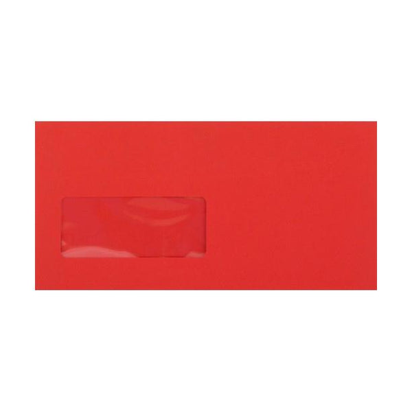 DL Red Window Envelopes [Qty 500] 120gsm Peel & Seal 110 x 220mm (2131041386585)