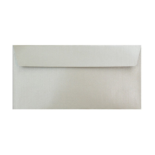 DL Pearlescent Silver 120gsm Peel & Seal Envelopes [Qty 250] 110 x 220mm