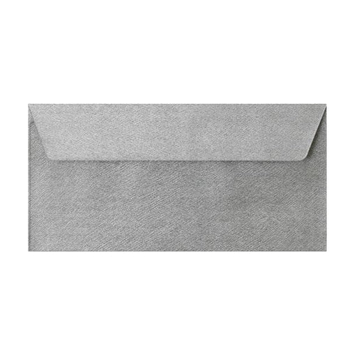 DL Silver Textured 120gsm Peel & Seal Envelopes [Qty 250] 110 x 220mm (2131082870873)