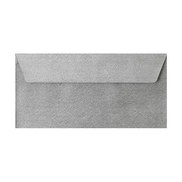 DL Silver Textured 120gsm Envelopes [Qty 250] 110 x 220mm (2131306610777)