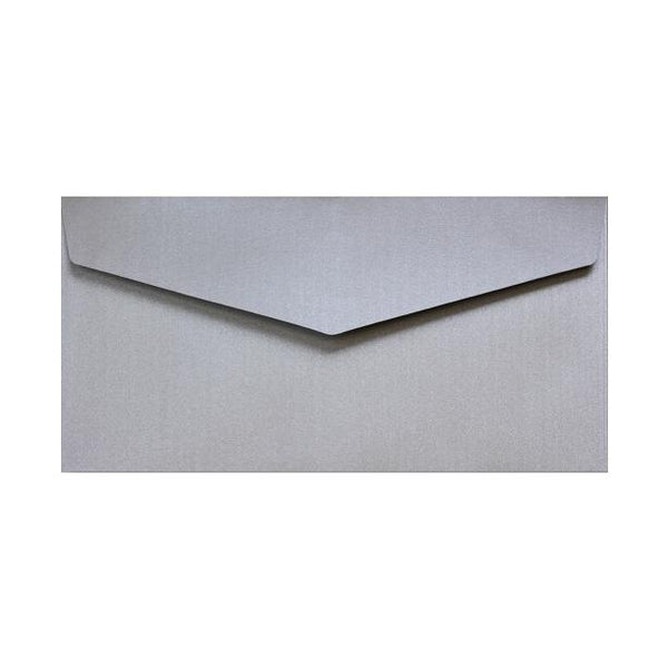 DL Silver V Flap Peel & Seal Envelopes [Qty 250] 110 x 220mm